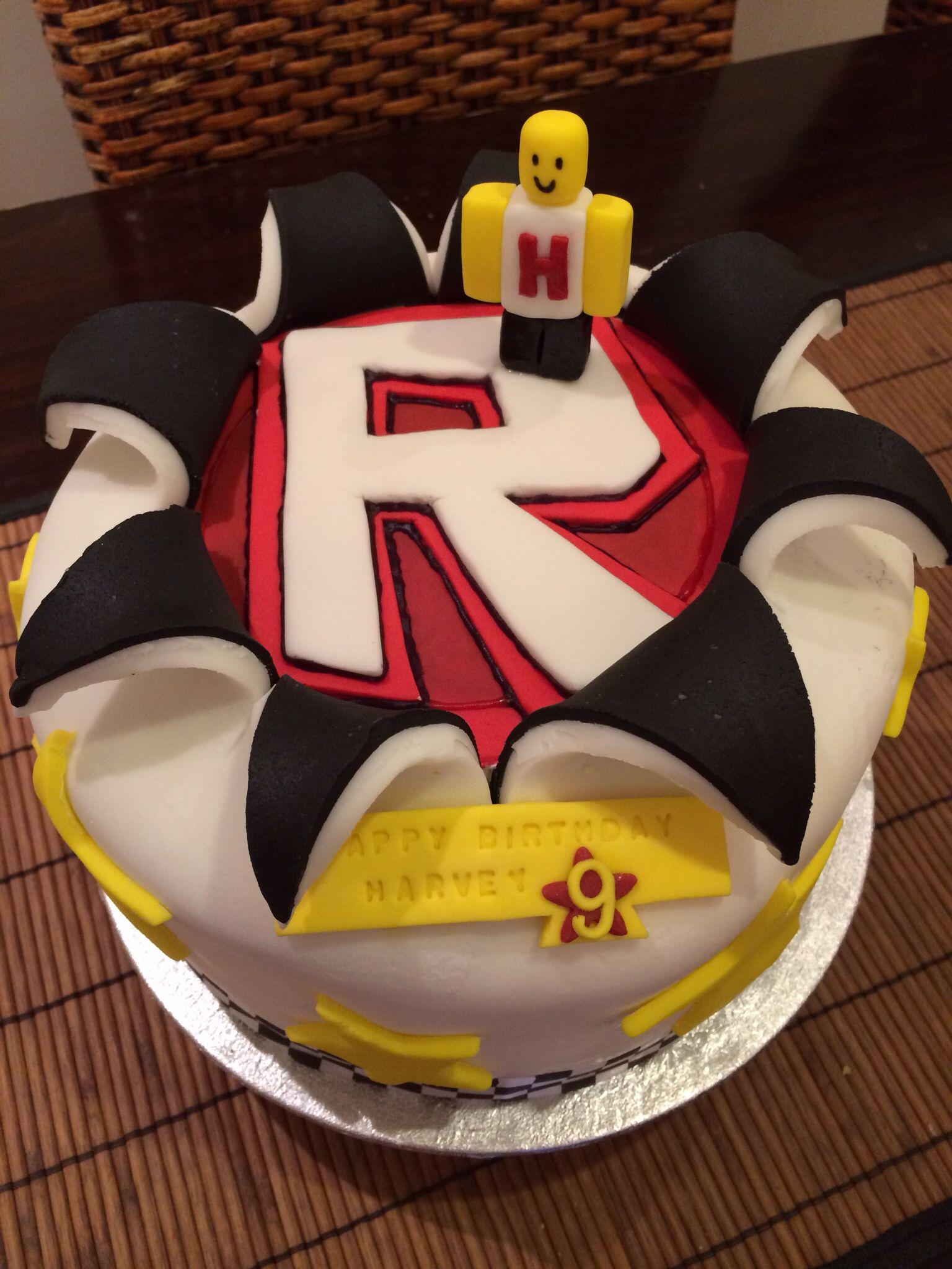 Roblox birthday cake  Four layers of vanilla sponge with