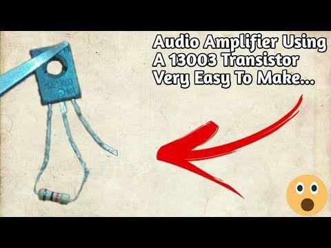 Diy Electronic... - YouTube | Audio amplifier, Transistors ...