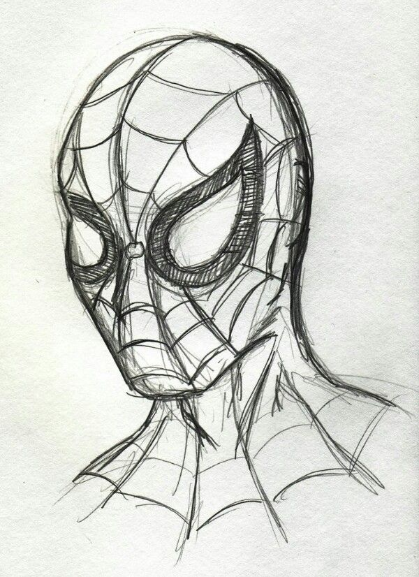 Spiderman Drawing Art Pinterest Dessin Dessins Faciles And
