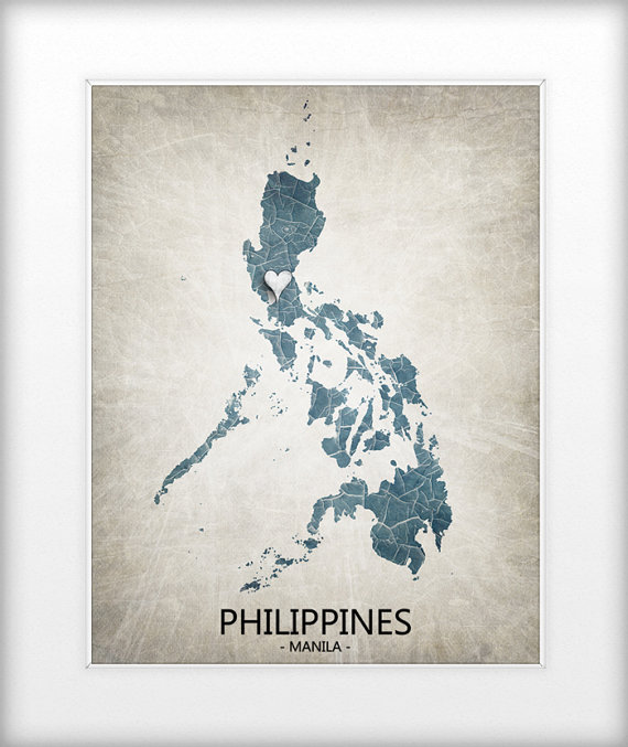 Philippines map art print home is where the heart is by trprints philippines map art print home is where the heart is by trprints pinoy things pinterest philippine map philippines and tourism publicscrutiny Images