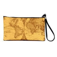 Exquisite Antique Atlas Map Clutch Bag> Exquisite ancient world atlas> Victory Ink Tshirts and Gifts