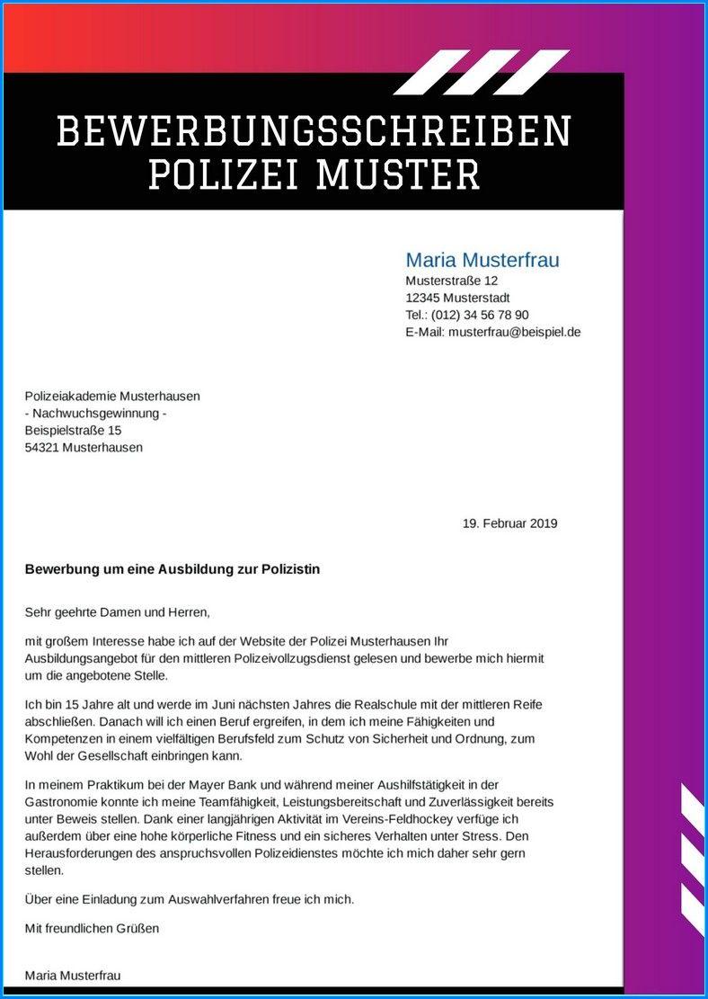 Praktikum Bewerbung Polizei Vorlage 15 Cool
