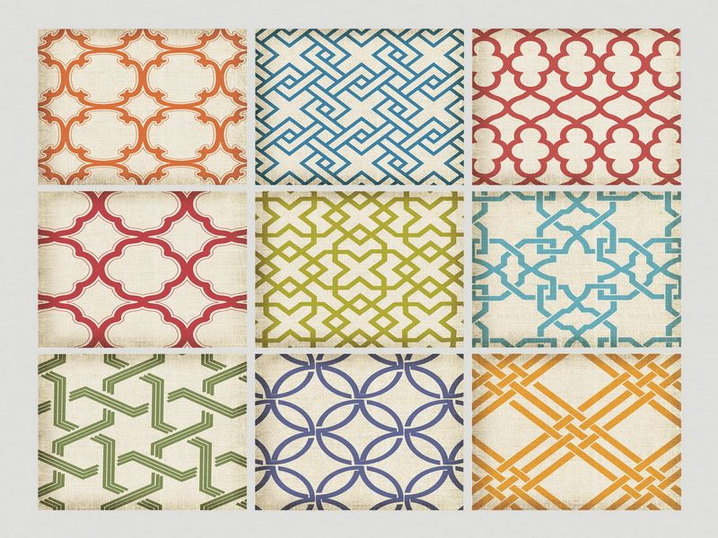 Geometric Kitchen Tile Decals