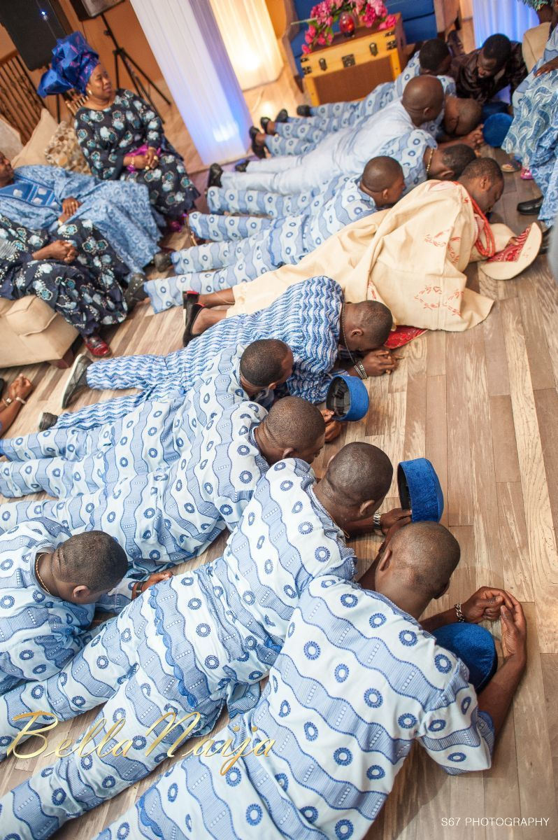 This Is A Tradition The Groom And His Men Will Prostrate In Front Of The Bride S Family Asking For Her H Yoruba Wedding African Wedding Bella Naija Weddings