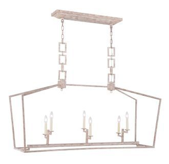 """Elegant Lighting 1512G54GI Golden Iron Denmark 6 Light 54"""" Wide Linear Cage Style Chandelier from the Urban Classic Collection - LightingDirect.com"""