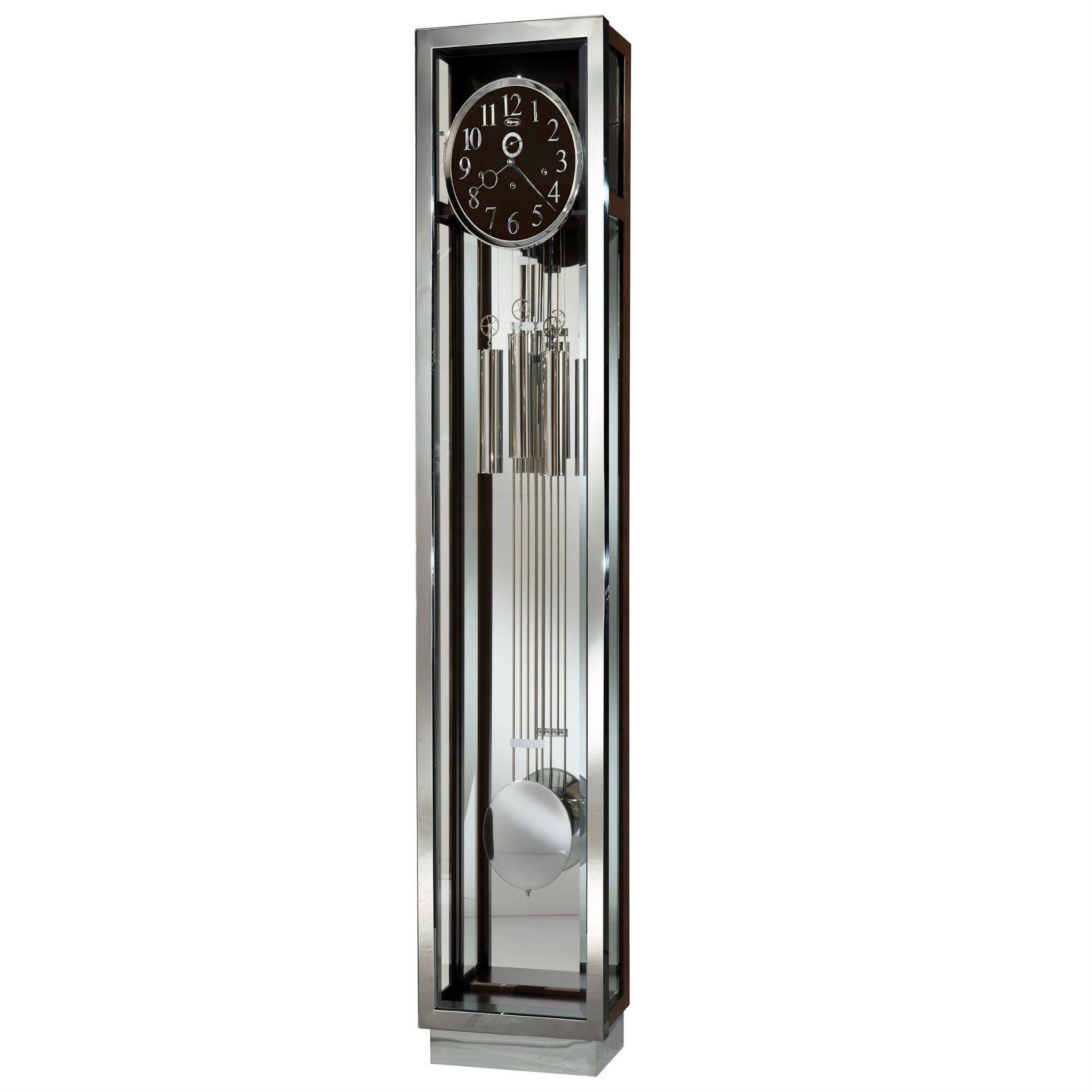 Comtemporary Gloss White Grandfather Clock Howard Miller 611-259 Whitelock