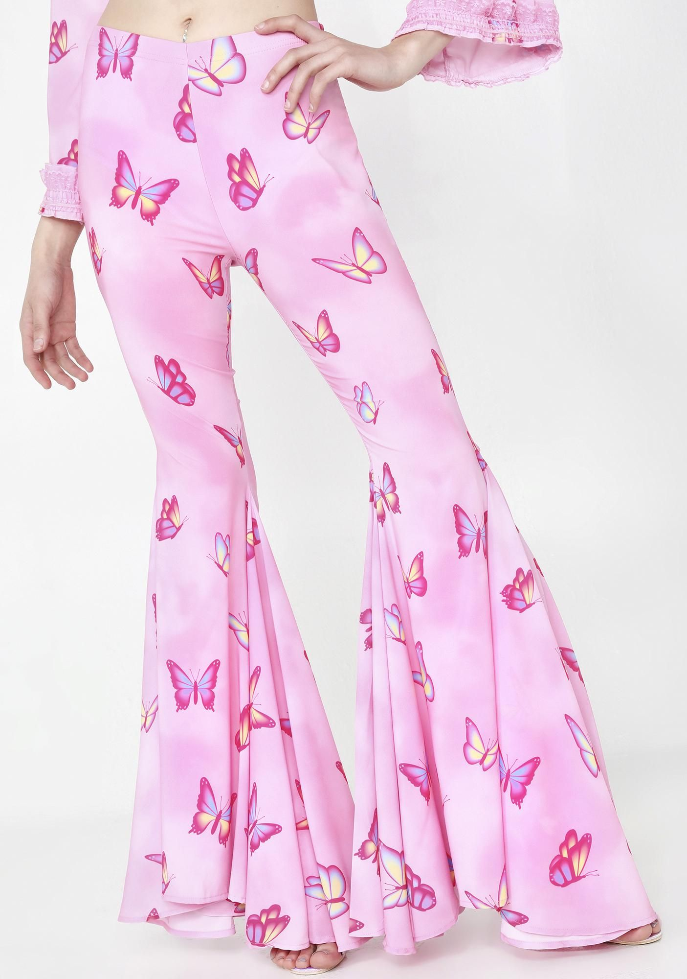 79d2d9bc7fa52 Sugar Thrillz Pampered Pixie Butterfly Flares | Dolls Kill #dollskill # sugarthrillz #spoiled #2000 #y2k #princess #buttefly #flared #pants #pink