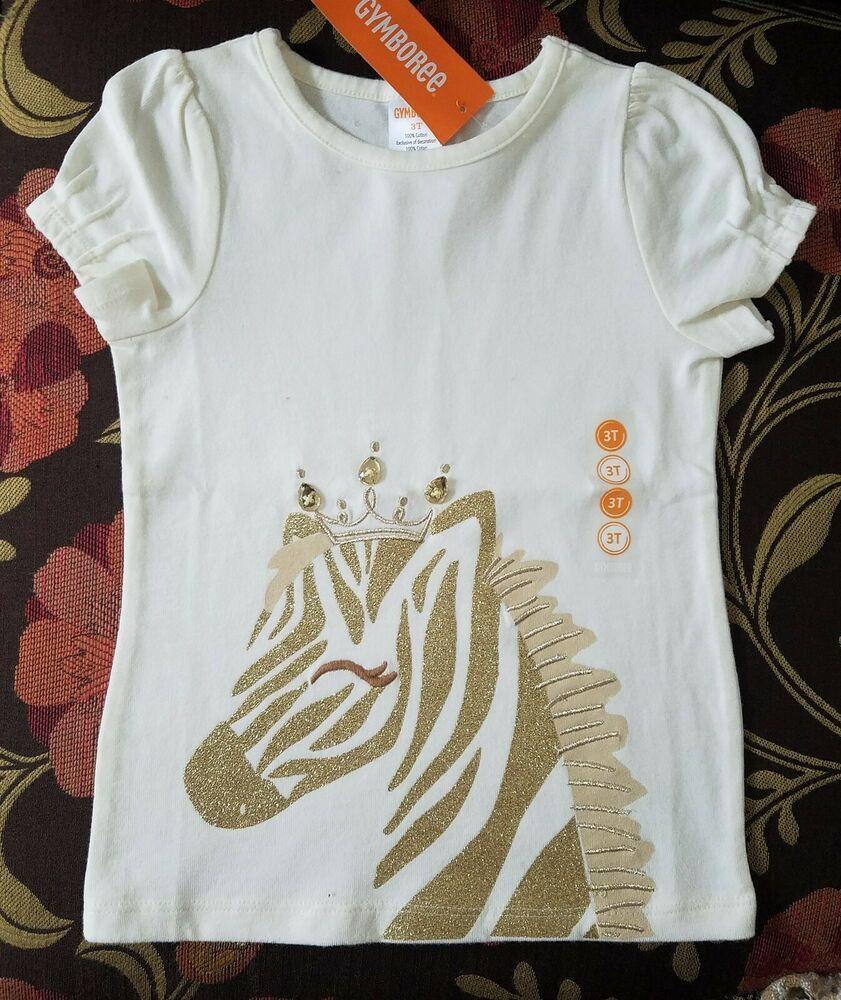 Gymboree Girls Baby Zebra Tee