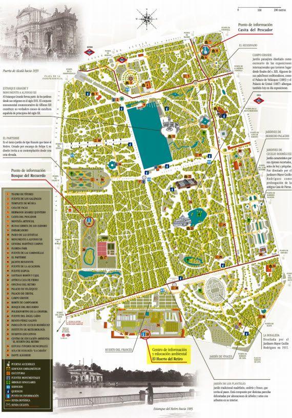 Plano Parque Del Retiro Mapa.Como Llegar Al Huerto Del Retiro Pincha Para Ampliar El