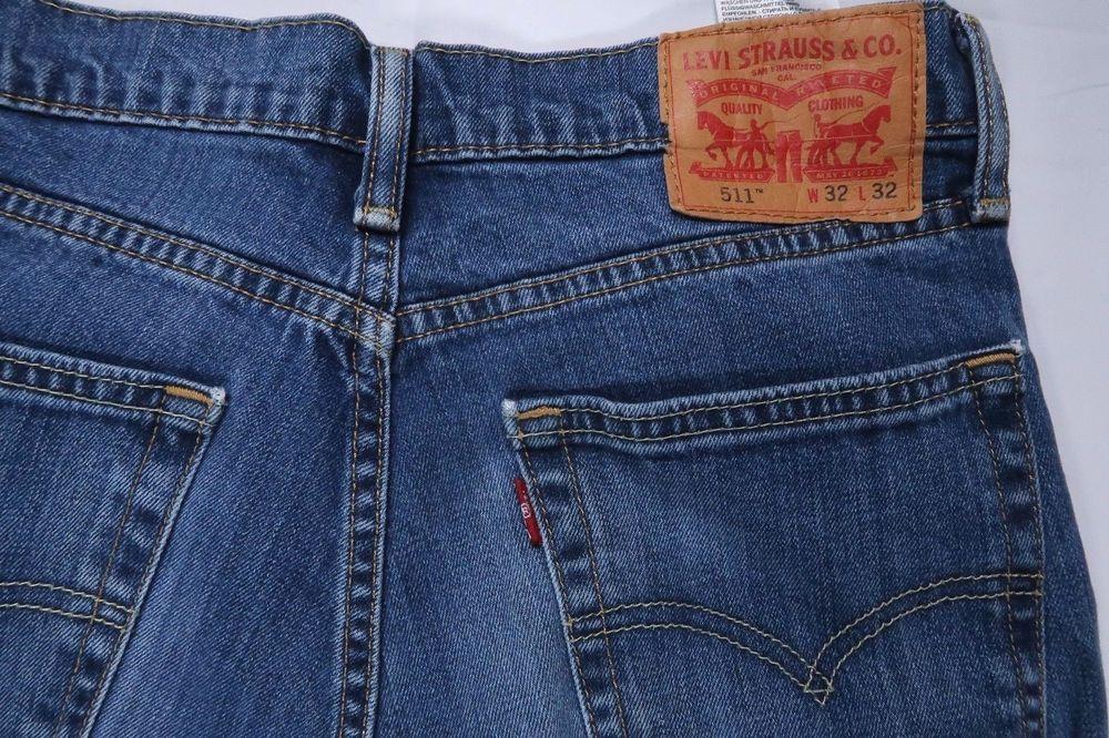 4e55224680e LEVIS 511 1163 THROTTLE STRETCH SLIM FIT MEN 32 X 32 JEANS 04511-1163 BLUE   fashion  clothing  shoes  accessories  mensclothing  jeans (ebay link)