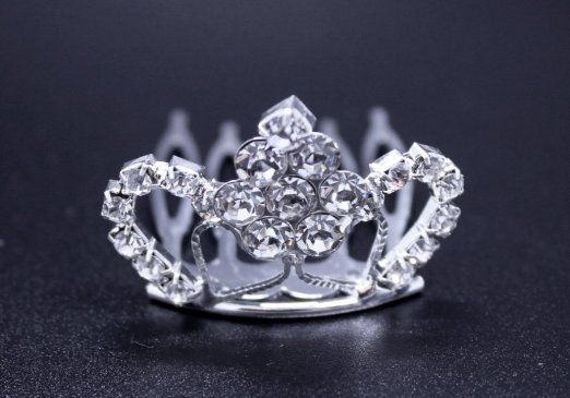 Exquisite Rhinestones Crystal Photo Prop Newborn Baby/Flower Girl Tiara Crown