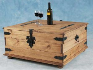 Corona Mexican Pine Double Storage Chest Coffee Table Chest