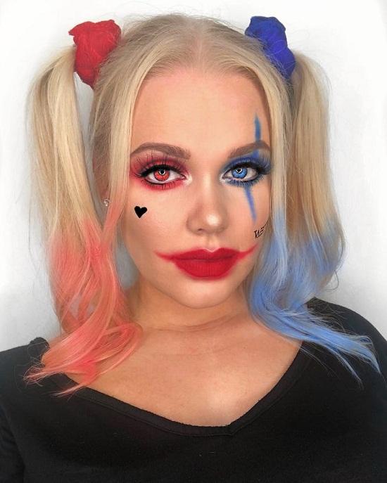 مكياج هارلي كوين In 2020 Halloween Face Makeup Face Makeup Makeup