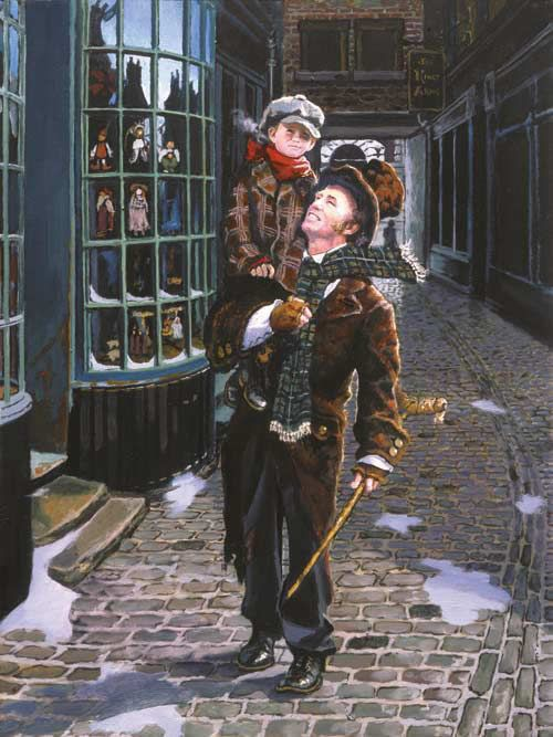 tiny tim and bob cratchit by dean morrissey christmas. Black Bedroom Furniture Sets. Home Design Ideas