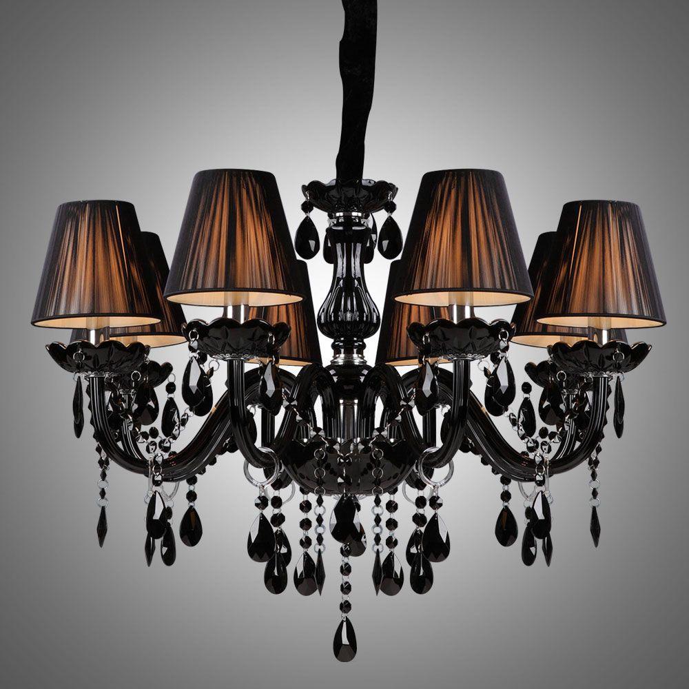 Black Crystal Chandelier Luxury Modern Black Chandelier Crystal Living 8 Lights In 2020 Black Crystal Chandelier Modern Black Chandeliers Black Chandelier