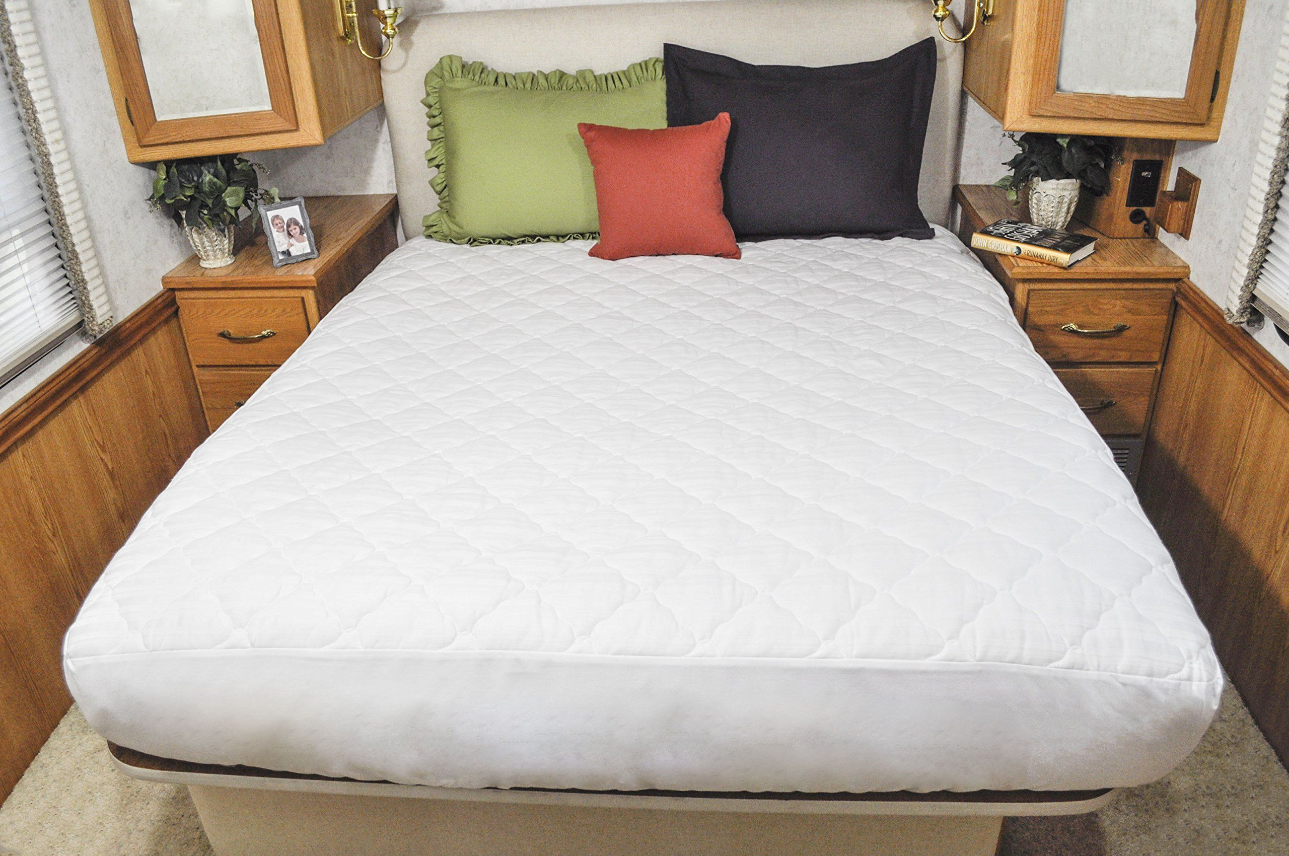 AB Lifestyles Camper King 72x80 USA MADE Mattress Pad, Quilted ...