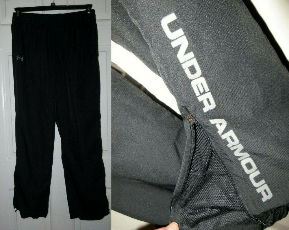 Under Armour XL Heat Gear Black Athletic Track Pants Gym