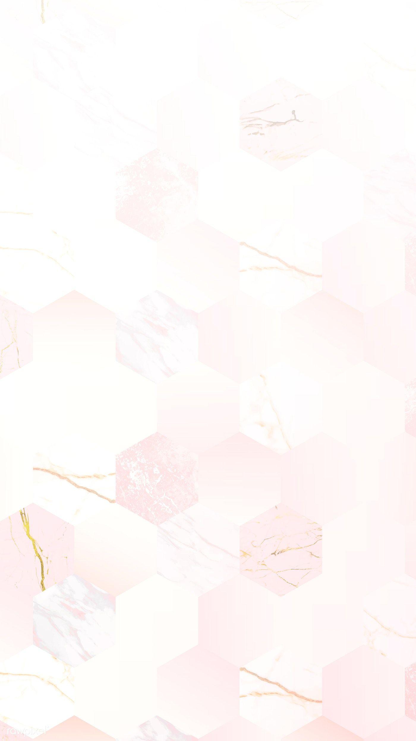 Download Premium Vector Of Pink Feminine Hexagon Geometric Background Geometric Background Iphone Background Wallpaper Cute Patterns Wallpaper