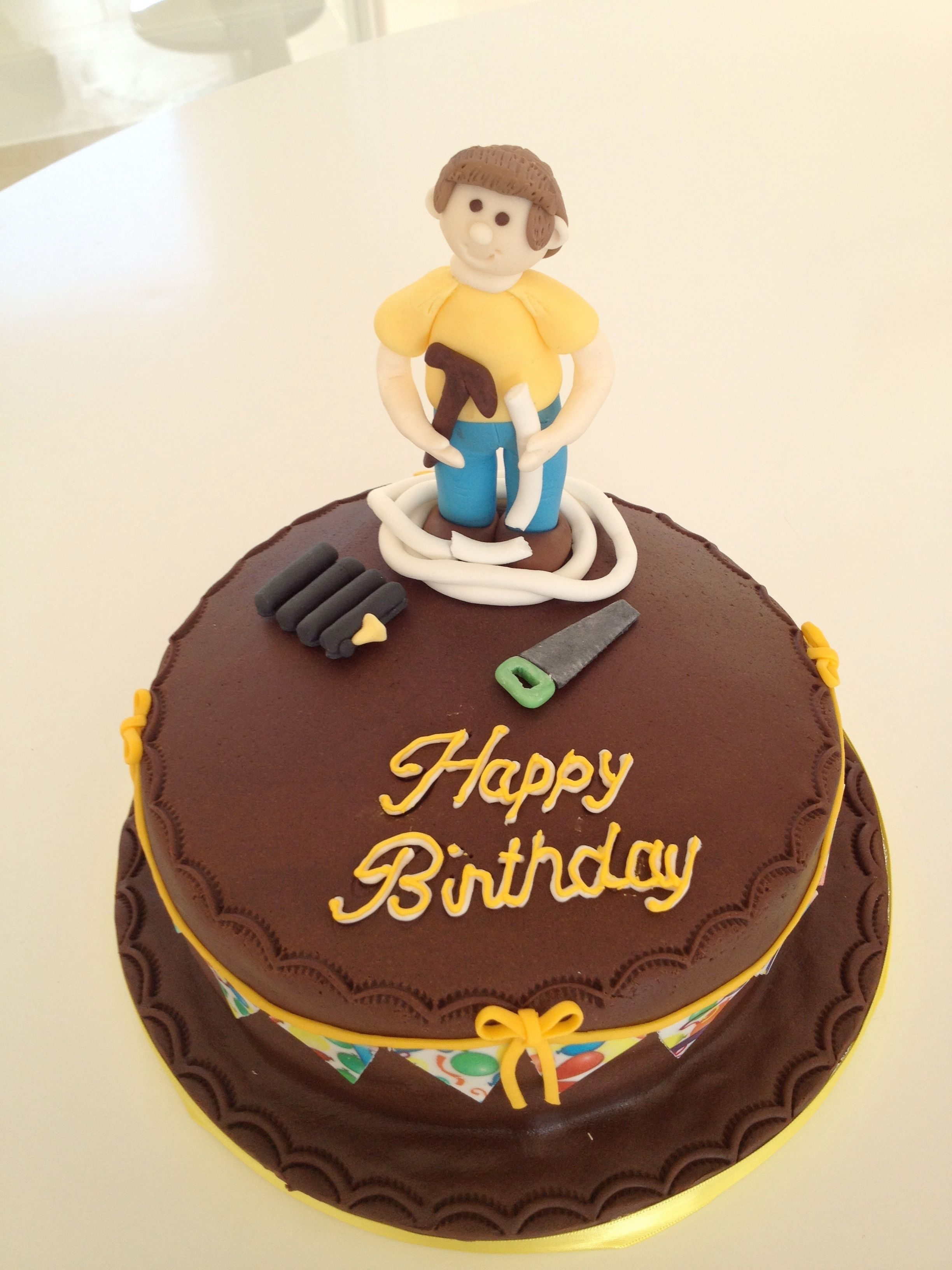 The plumber cake infocakesbypennyandsuecouk Decorating cake