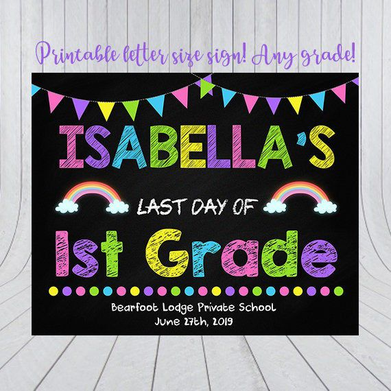 Back to School Sign Printable, First Day of School Printable, First Day of School Sign, First Day of School Sign Printable