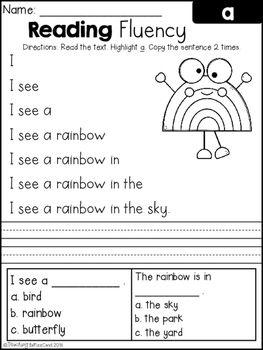 Free reading fluency and comprehension set 1 kindergarten free reading fluency and comprehension set 1 ibookread PDF