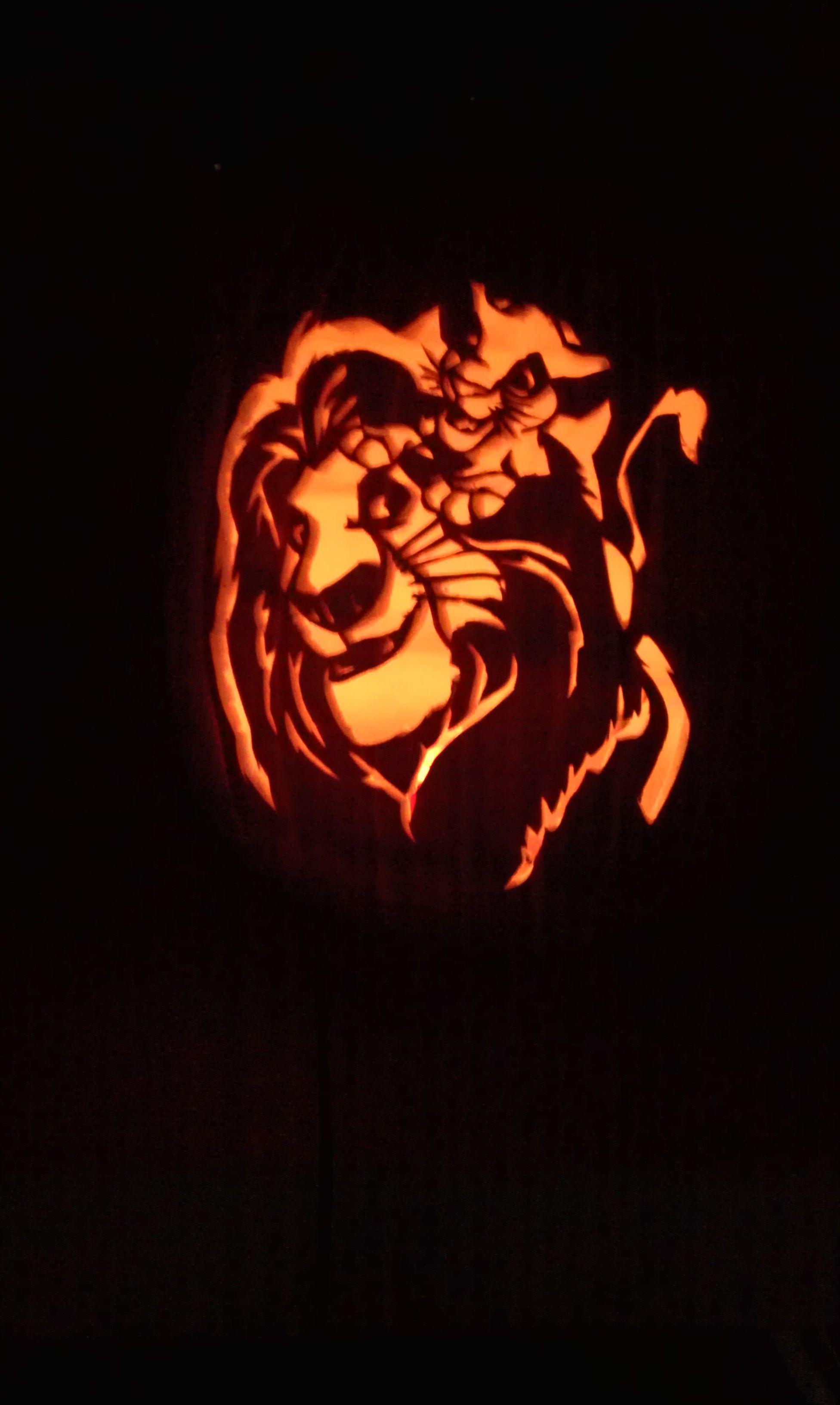 pumpkin template lion king  $5.5 Lion King pumpkin | Disney pumpkin carving, Pumpkin ...