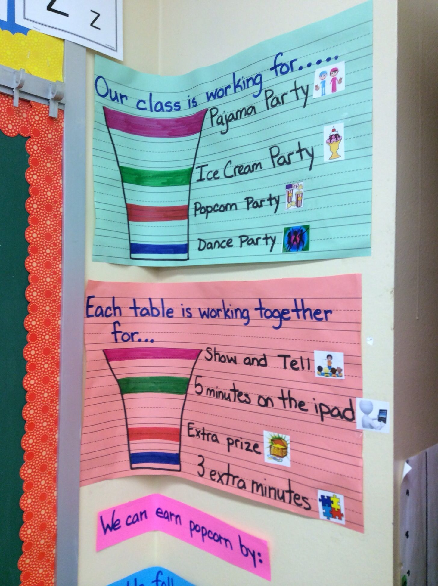 Classroom Marble Jar Ideas : Table and whole class marble jar system with steps towards