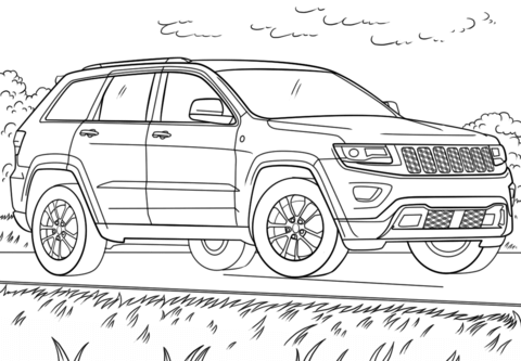 Jeep Grand Cherokee Rozmalovka Coloring Pages Super Coloring Pages Cars Coloring Pages
