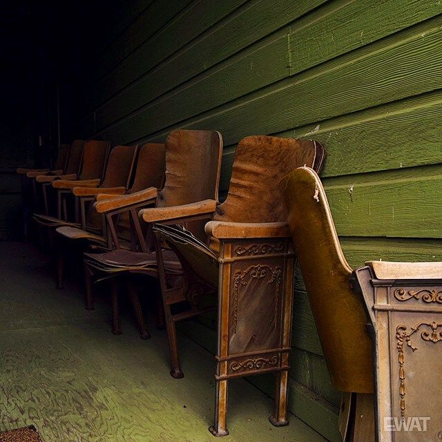 Once upon a time at the theater... #abandoned #decay #vintagechairs #theaterseats
