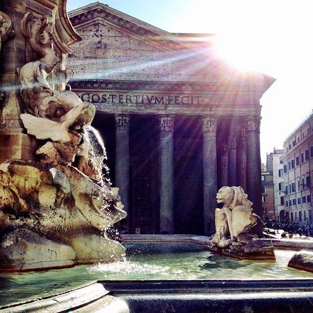 Annamariawolniak Amazing Weather In Rome Today Roma Italy Pantheon Webstagram Rome Weather Italy Travel Rome Italy