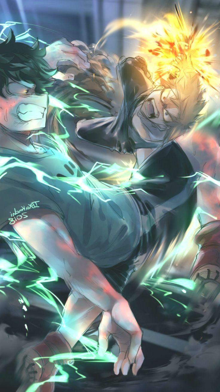 Bakugou And Midoriya My Hero Academia Academia Bakugou