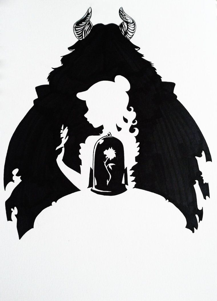 Beauty and the Beast Silhouette Art by Hoshino-Libra on DeviantArt ...