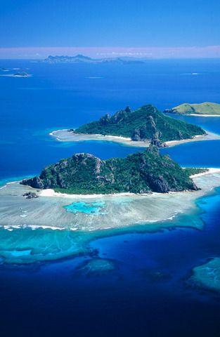 Group of islands: Monuriki, Monu and Yanuya, Mamanucas, Fiji Islands