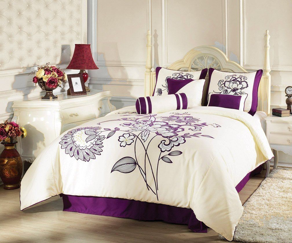 beige with purple bedding sets bedroom ideas decorating 19521 | 4506aa01c783c76ab58a95cbf7d535c8