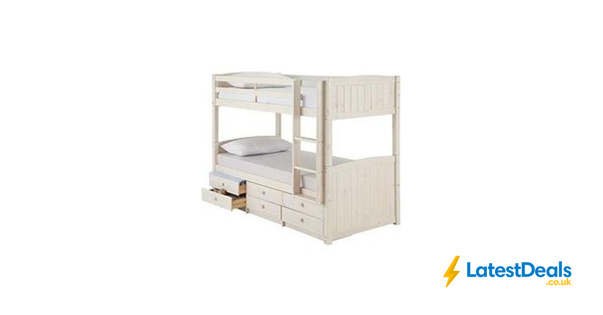 Kidspace Georgie Solid Pine Bunk Bed Frame With Storage 359 At