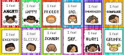 Current image with feelings cards printable