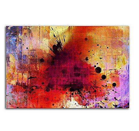 Musterbilder buntes Abstraktes Bild auf Leinwand Abstrakt142_cm_ - wohnzimmer bilder abstrakt
