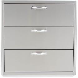 Blaze 30 Inch Stainless Steel Triple Access Drawer Blz 30w 3drw Kitchen Drawer Storage Drawers Storage Drawers
