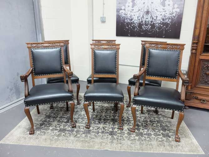 Cool Antiques By Design Cabriole Leg Dining Chairs Set Of 6 Gamerscity Chair Design For Home Gamerscityorg
