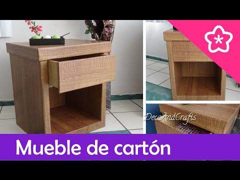 Hacer un mueble de cart n con apariencia de madera diy - Manualidades con muebles ...