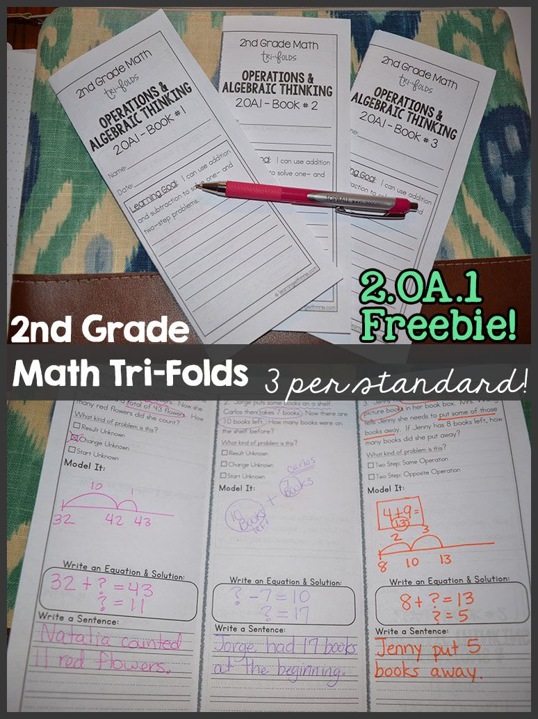 2nd Grade math tri-folds. covers all common core math standards ...