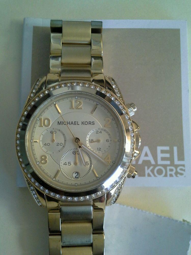 c62a196fd Michael Kors Blair Gold Tone Chronograph Women's Watch MK5166 #MichaelKors  #LuxuryDressStyles