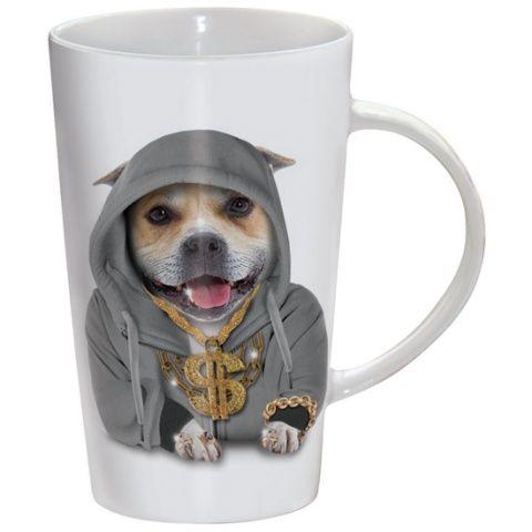 Kubek latte Staffie Bling