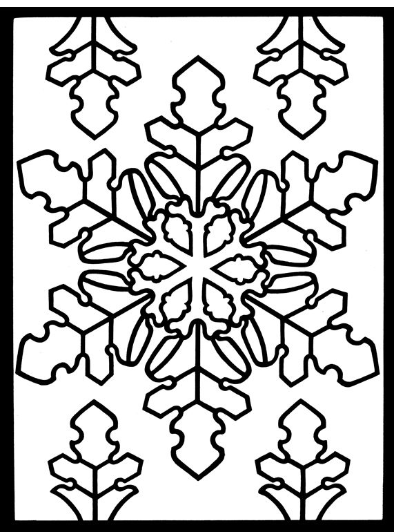 Welcome To Dover Publications Snowflake Designs Stained Glass Coloring Book
