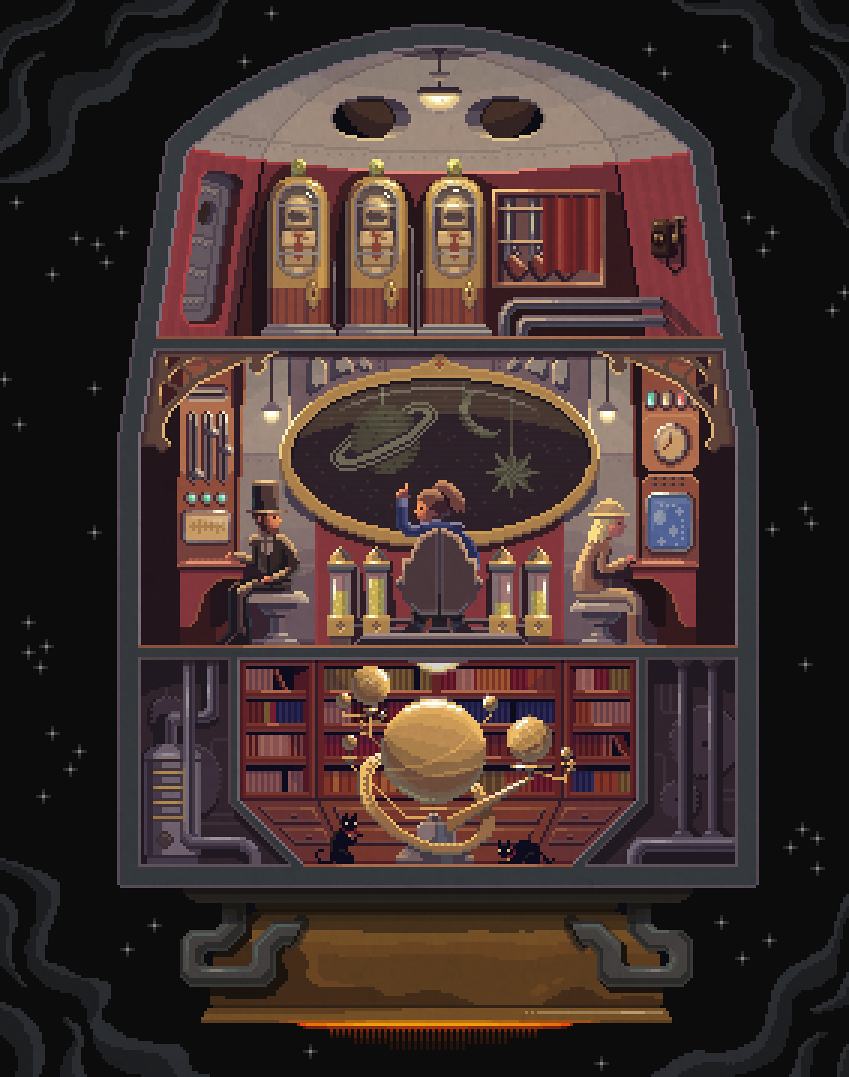 Scene #33: 'Space Explorers' Pixel Art illustrations by Octavi Navarro. If you'd like to support my work, now you can do so on Patreon!: https://www.patreon.com/pixelshuh www.pixelshuh.com