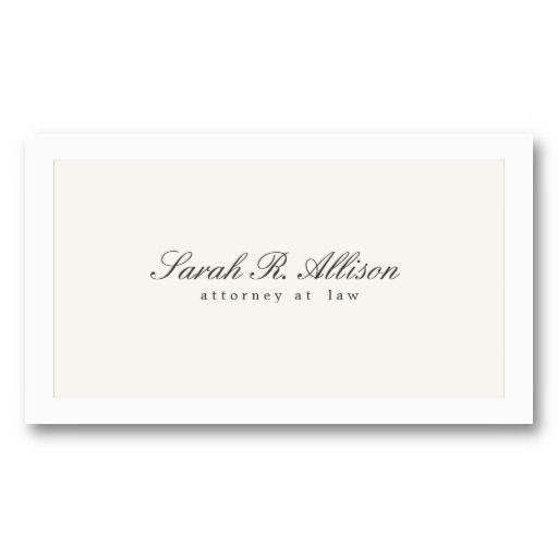 Simple elegant attorney off white business card business cards for simple elegant attorney off white business card colourmoves