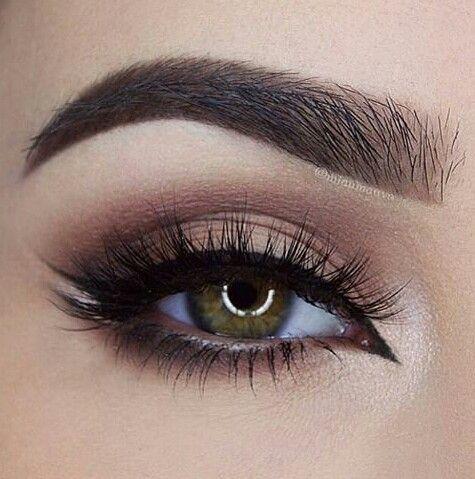 Neutral Eye Malkeup Arabic Winged Liner With Swallow Wing White Detail Miaumauve Makeup Hazel EyesHazel