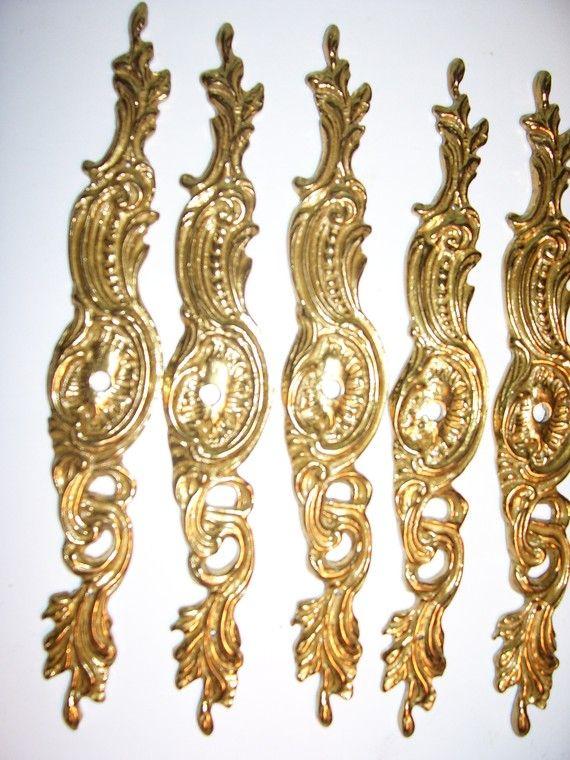 Brass Decorative Furniture Cabinet Applique Diy Molding Plaster