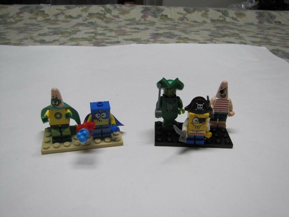 Lego Spongebob Squarepants Minifigure Lot From 3815 3817