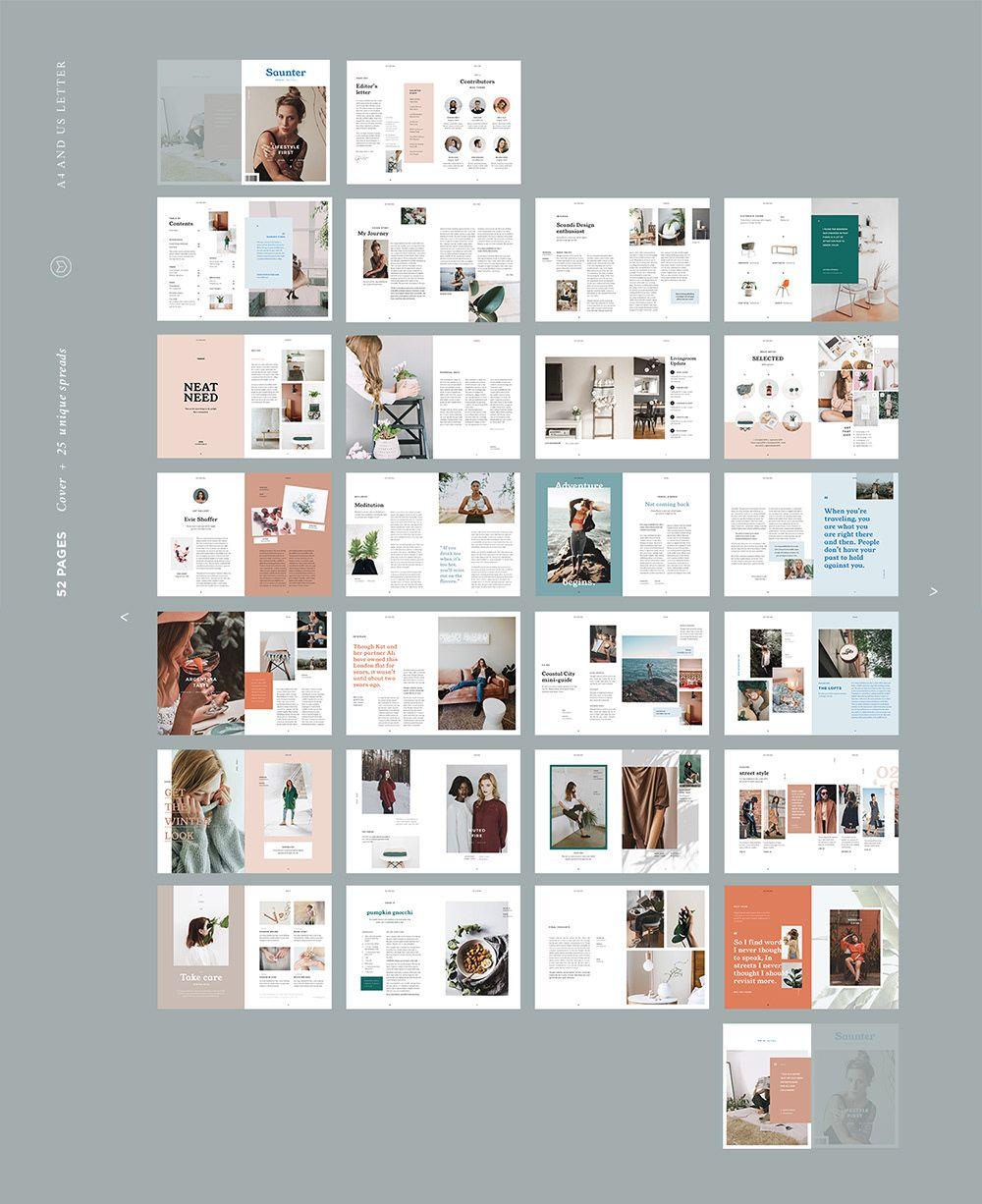 25 Photoshop Indesign Magazine Cover Templates: Indesign Magazine Templates